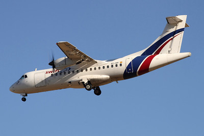 Reg: EC-IVP Operator: Swiftair Type:  Avions de Transport Regional ATR-42-300F		   C/n: 231 Location:  Palma de Mallorca - Son San Juan (PMI / LEPA), Spain        Photo Date: 10 June 2013 Photo ID: 1300688