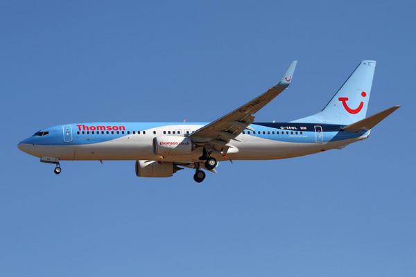 Reg: G-TAWL Operator: Thomson Airways Type:  Boeing 737-8K5/W C/n: 37243 / 4299 Location:  Palma de Mallorca - Son San Juan (PMI / LEPA), Spain        Photo Date: 10 June 2013 Photo ID: 1300724