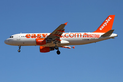 Reg: G-EZUG Operator: easyJet Type:  Airbus A.320-214		   C/n: 4680 Location:  Palma de Mallorca - Son San Juan (PMI / LEPA), Spain   EasyJet decorated this A.320 with decals to celebrate their recent commencement of services to Moscow     Photo Date: 10 June 2013 Photo ID: 1300725
