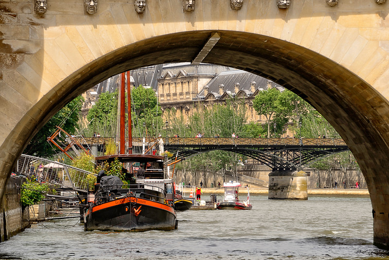 Riverside view of Pont Des Arts