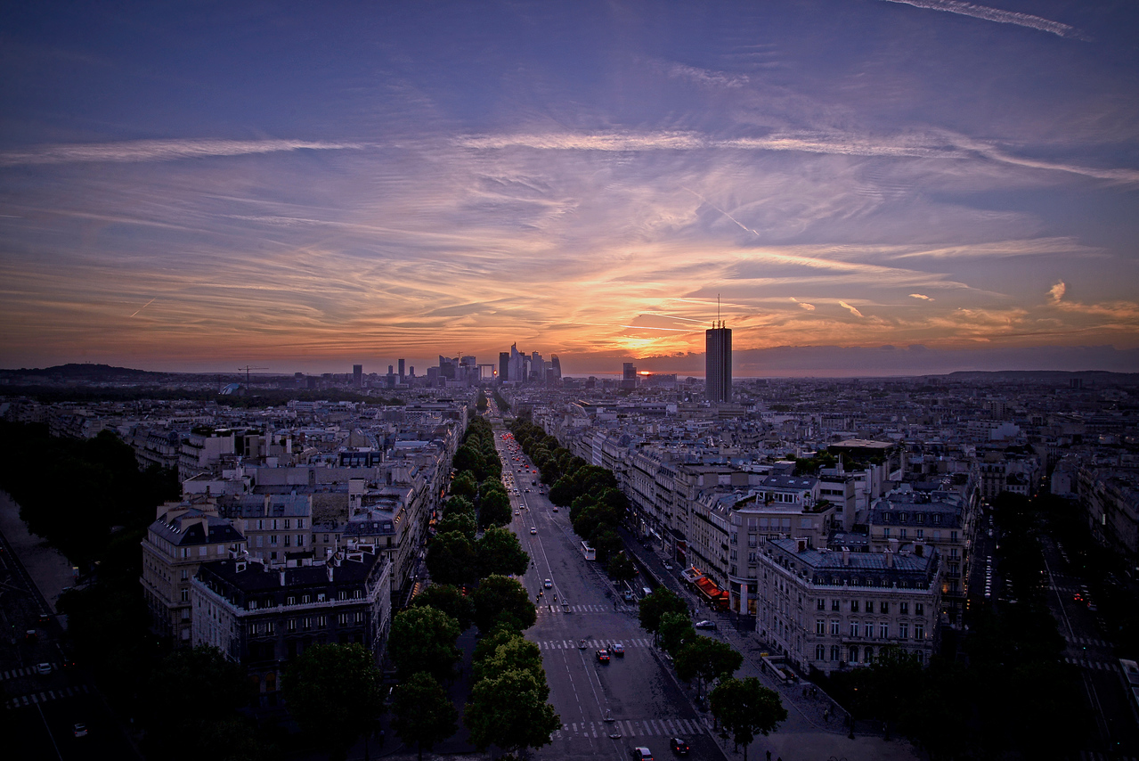 La Defense sunset