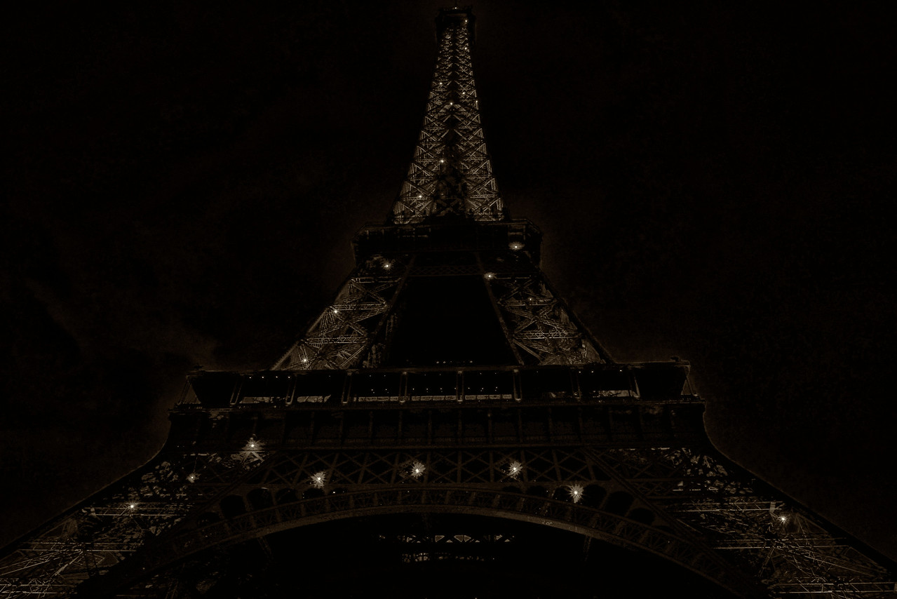 Eiffel Tower B&W Sepia