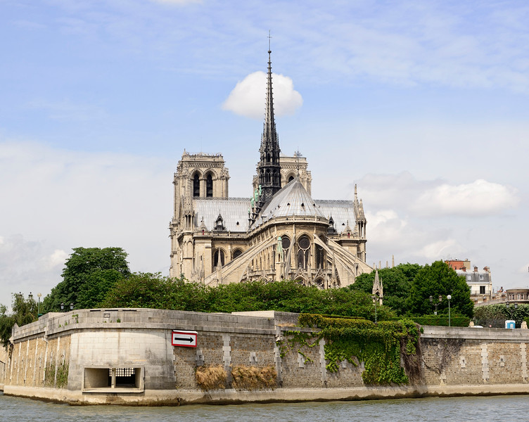Backside view of Notre Dame