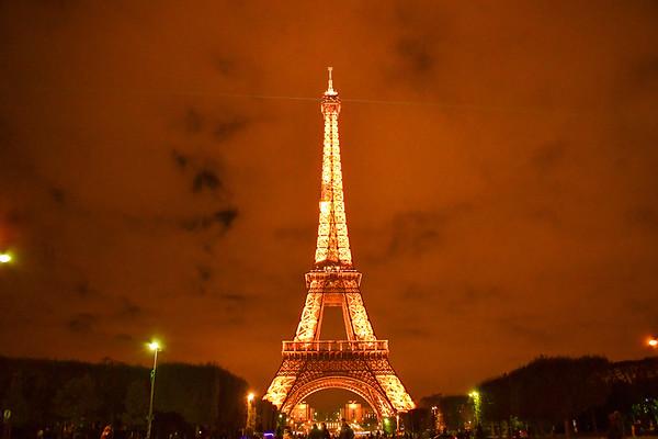 Eiffel Tower or Tour Eiffel , Illuminated 1