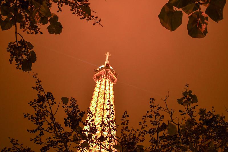 Eiffel Tower or Tour Eiffel, Illuminated 4