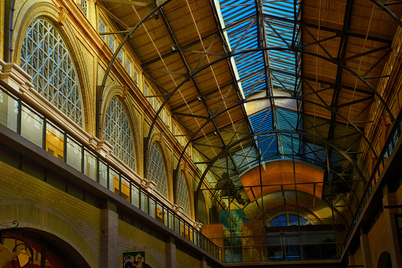 Inside Ferry Bldg golden hour