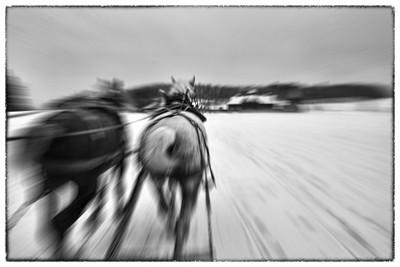 Racing towards the Farm Barn