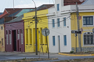 Colorful buildings near the harbor