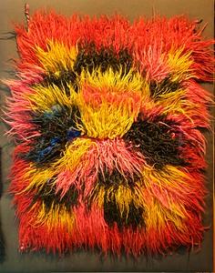 A very colorful Pre-Columbina blanket