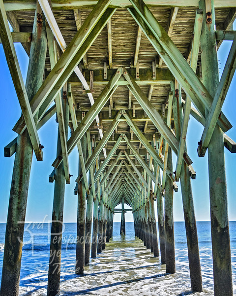 Peering Under the Pier - Myrtle Beach, South Carolina - USA