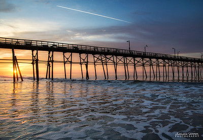 Sunrise-Yaupon Beach Fishing Pier - Oak Island, NC