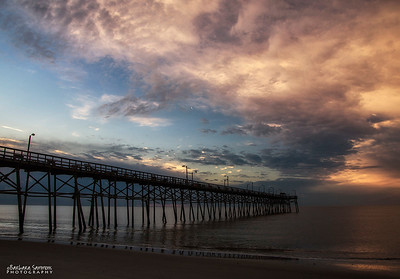 """The Calm Before The Storm"" - Yaupon Beach Fishing Pier - Oak Island, NC - Jan. 20, 2017 - Presidential Inauguration"