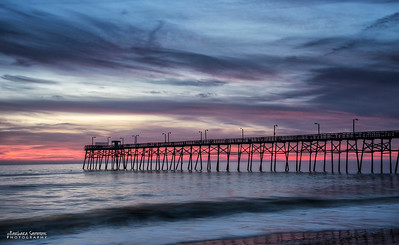 Sunset-Yaupon Beach Fishing Pier-Oak Island, NC