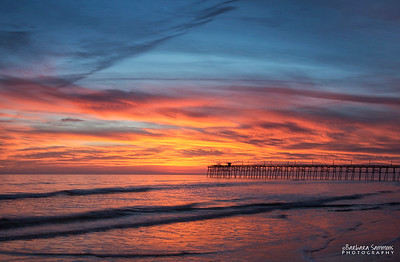 Sunset-Yaupon Beach Pier-Oak Island, NC