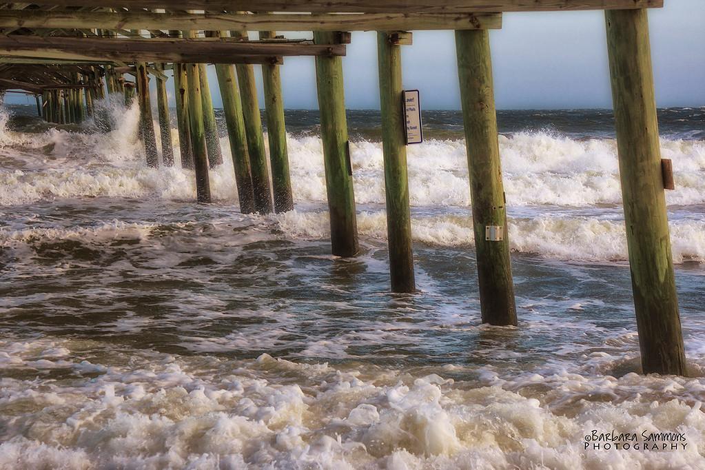 """""""Storm's A Comin' - Yaupon Beach Fishing Pier; Oak Island, NC"""