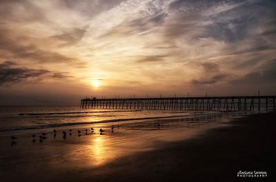Sunset-Yaupon Beach Fishing Pier - Oak Island, NC