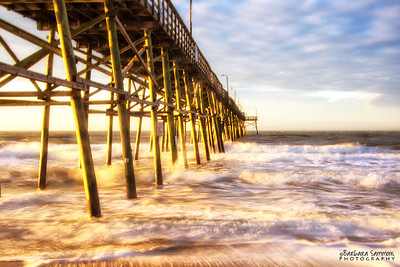 Sunrise at Yaupon Beach Fishing Pier - Oak Island, NC