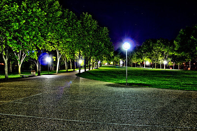 The Gateway Arch Park at Night