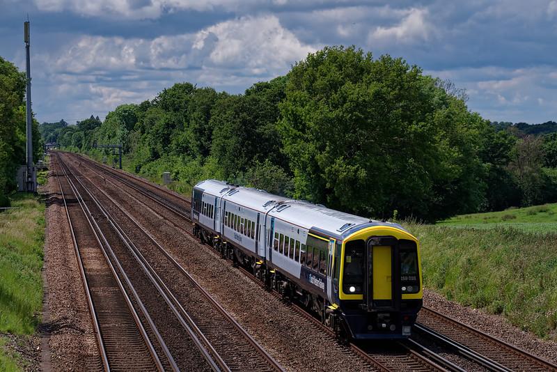159016: 11:53 Yeovil Junction - Waterloo. 6th June 2019.