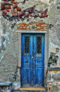 Blue Door - Island of Santorini Original image optimized with Nik Software; Viveza and Color Efex Pro.