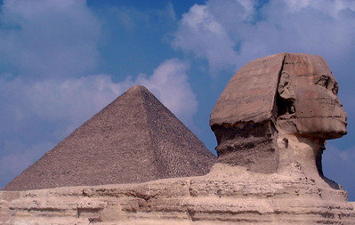 The Great Pyramids and the Great Sphinx of Giza, Cairo, Egypt