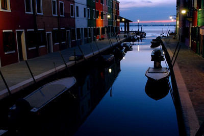 Dusk on Burano, Isle of Burano, Italy