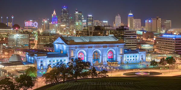 Kansas City at Night - Union Station