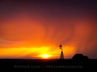 Sunset Storm on the Prairie