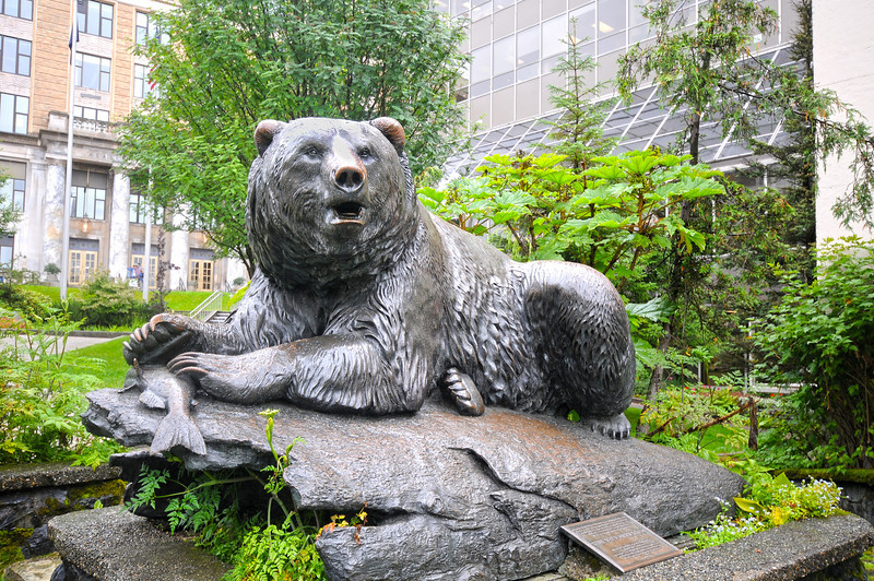 Who says there's no bears in the capitol of Alaska?