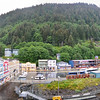 Panorama of Juneau from the balcony.