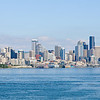 Seattle from the Lido deck as the boat sets sail.
