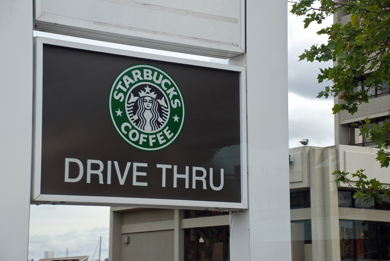 Starbucks Drive Thru - I just wonder how long before we get drive thru coffee places too.