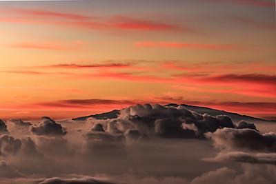 Sunrise Over Mauna Kea from Haleakla