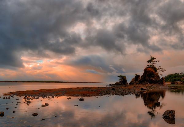 Stomy Sunset on Siletz Bay