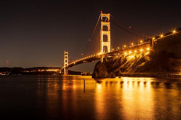 Golden Gate Bridge from Fort Baker pier