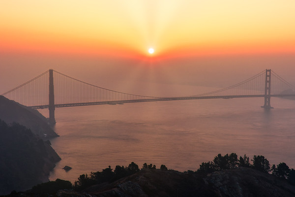 Smoky Bay Area Sunrise