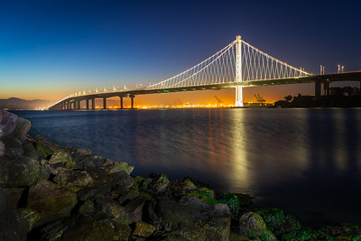 SF Bay Bridge reflection in Clipper Cove