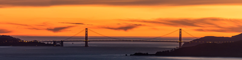 Sunset Behind the Golden Gate Bridge