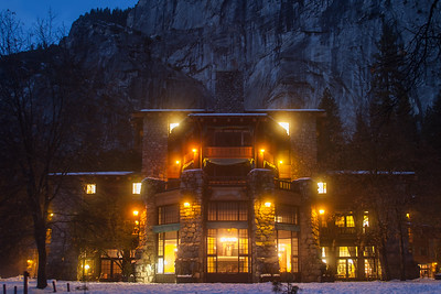 Winter Night at the Ahwahnee Hotel