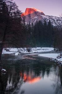 Half Dome Alpenglow