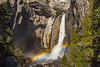 Rainbow off Lower Yosemite Falls