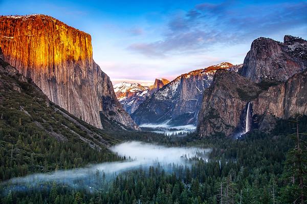 Winter Dawn in Yosemite
