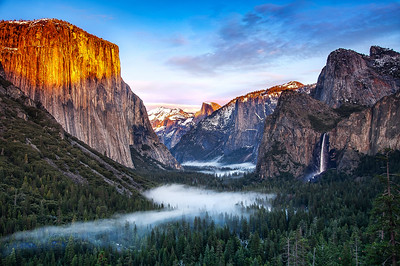 Winter Dawn in Yosemite