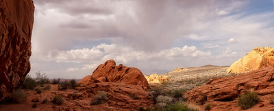 Valley Of Fire - 5 image portrait Pano