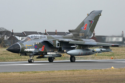 Reg: ZG773 Operator: UK - Royal Air Force / BAE Systems Type:  Panavia Tornado GR.4		   C/n:  902/BS186/3445   BAE Systems operate this early prototype Tornado from their Warton factory on systems development work, still looking great in the green/grey camouflage.     Photo Date: 25 March 2010 Photo ID: 1200434