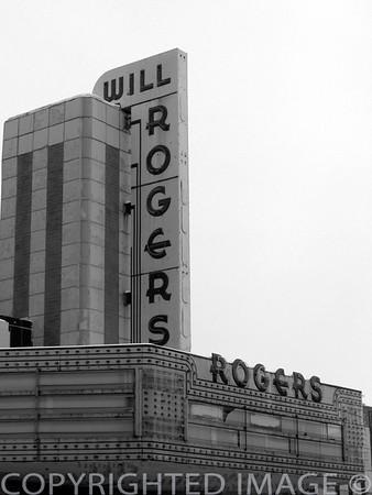 Will Rogers Theatre (B & W)