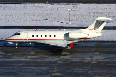 Reg: D-BUBI Type:  Bombardier BD-100-1A10 Challenger 300  C/n: 20145   Windrose Air Jet Charter Challenger making its way to the de-icing bay prior to departure at Zurich, carrying delegates from the WEF at nearby Davos.     Photo Date: 31 January 2010 Photo ID: 1200458