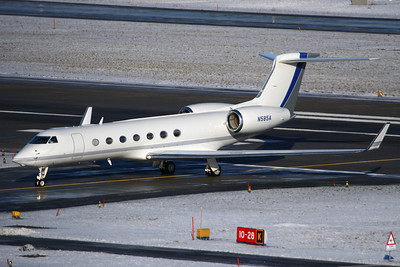 Reg: N585A Type:  Gulfstream Aerospace G.550		   C/n: 5110   Opertaed by the ARAMCO Associated Company based in Houston, this Gulfstream was a visitor to Zurich-Kloten fir the WEF 2010.     Photo Date: 31 January 2010 Photo ID: 1200461