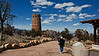 Approaching the Watch Tower at Desert View (Grand Canyon)