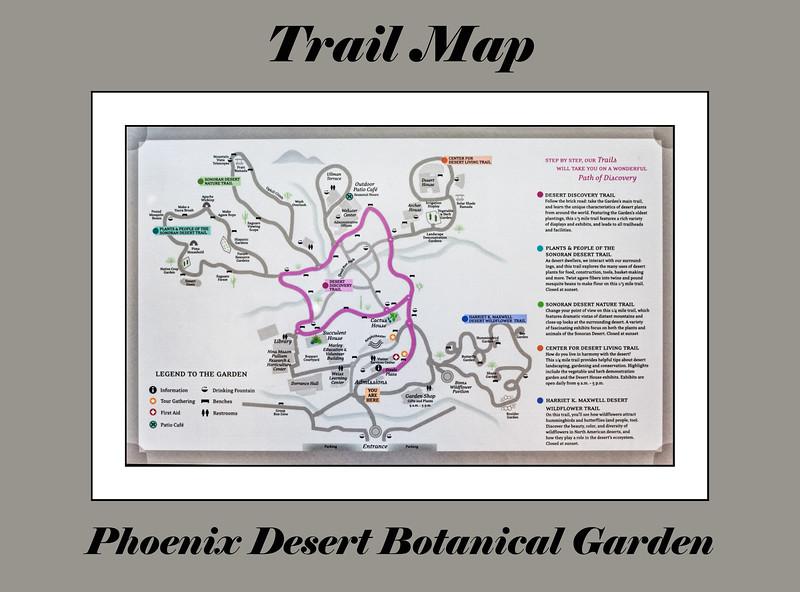 Interpretive sign - map of the grounds, Phoenix Desert Botanical Garden